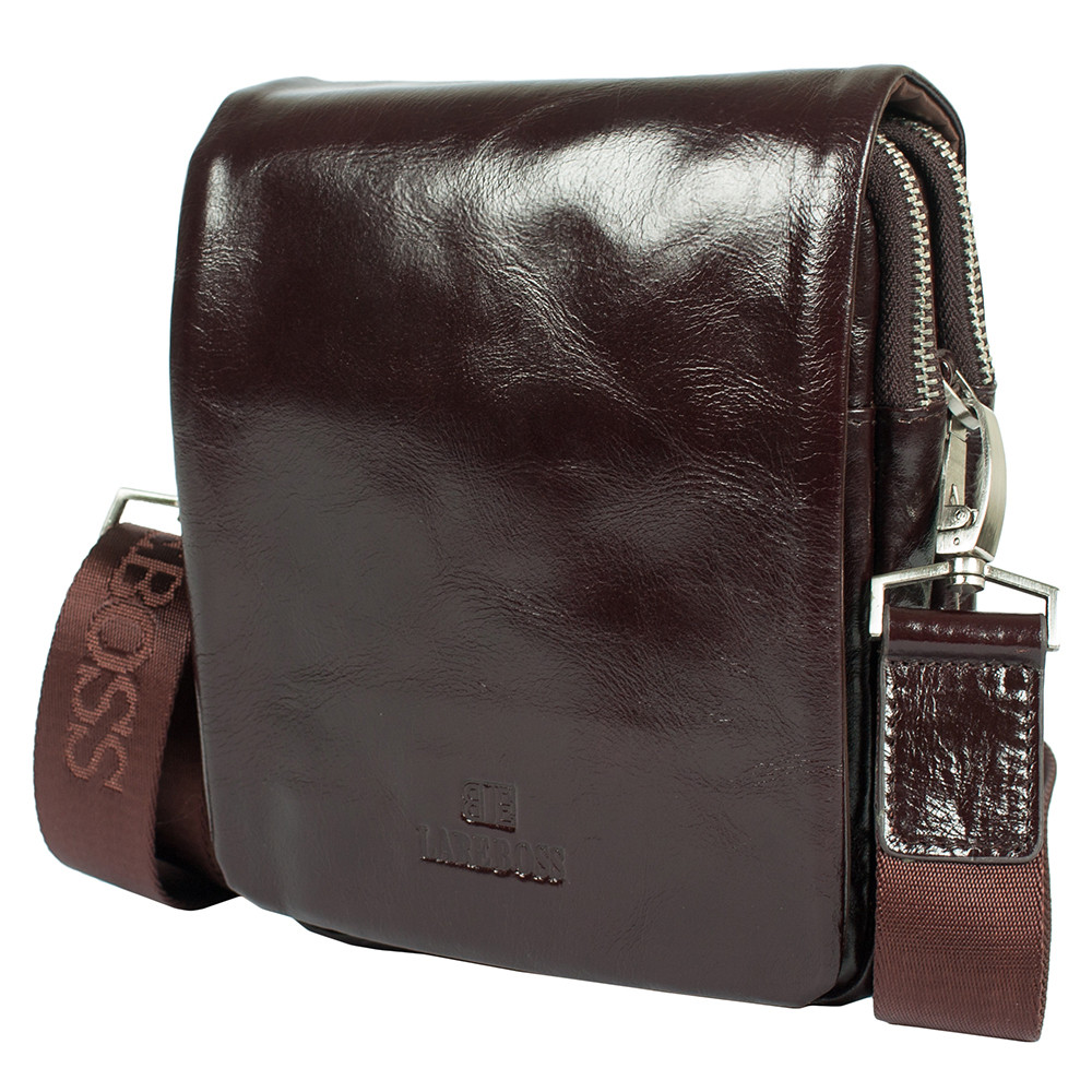 26e858839399ba Мужская кожаная сумка Lare Boss 4704-6-205b темно-коричневая (19.5х15.5х7  см), цена 1 360 грн., купить в Киеве — Prom.ua (ID#804055960)