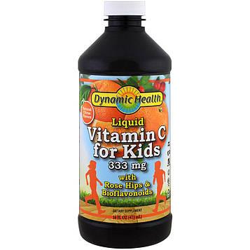 Dynamic Health  Laboratories, Жидкий витамин С для детей, натуральные цитрусовые, 16 жидких унций (473 мл)
