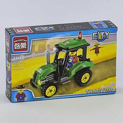 """Конструктор Brick 1102 (84) 112 дет, """"Трактор"""" в коробке СОБРАННЫЙ"""