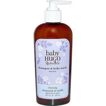 Hugo Naturals, Baby, шампунь и средство для мытья младенцев, не щиплет глаза, ромашка и ваниль, 237 мл