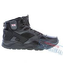 Высокие зимние мужские кроссовки Demax DX25, черные, натуральная кожа, на меху., фото 2