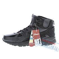 Высокие зимние мужские кроссовки Demax DX25, черные, натуральная кожа, на меху., фото 3