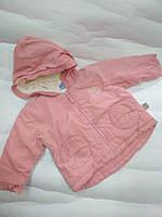 Куртка вельвет  розовая Kitty 0-1 года, фото 1