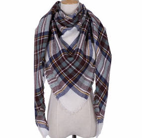 Женский шарф-плед ( теплый шарфик )