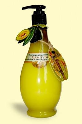 Шампунь Восстанавливающий  с маслом оливы и аргана 400 мл VivaOliva, фото 2
