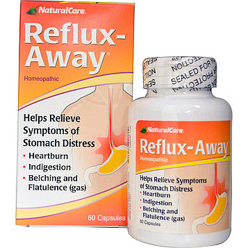 Natural Care, Reflux-Away, 60 капсул