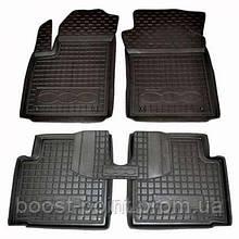 Коврики салона (резиновые, черные) avto-gumm Fiat 500 L (фиат 500 л 2012г+)