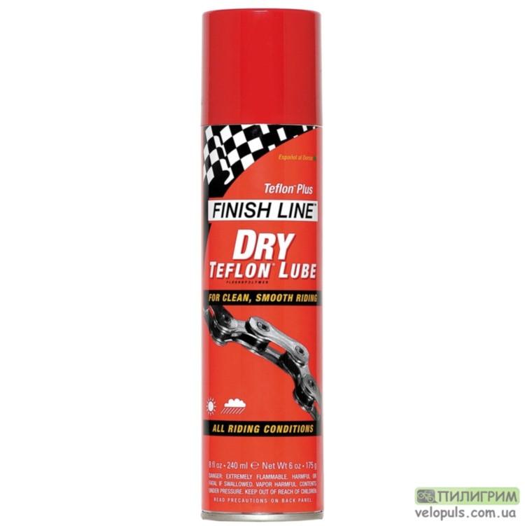 Смазка цепи - Finish Line Teflоn Dry Lubricant (спрей) 240 мл