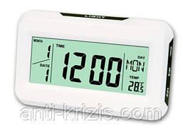 Часы электронные настольные с термометром и подсветкой kk-2616,подсветка на хлопок