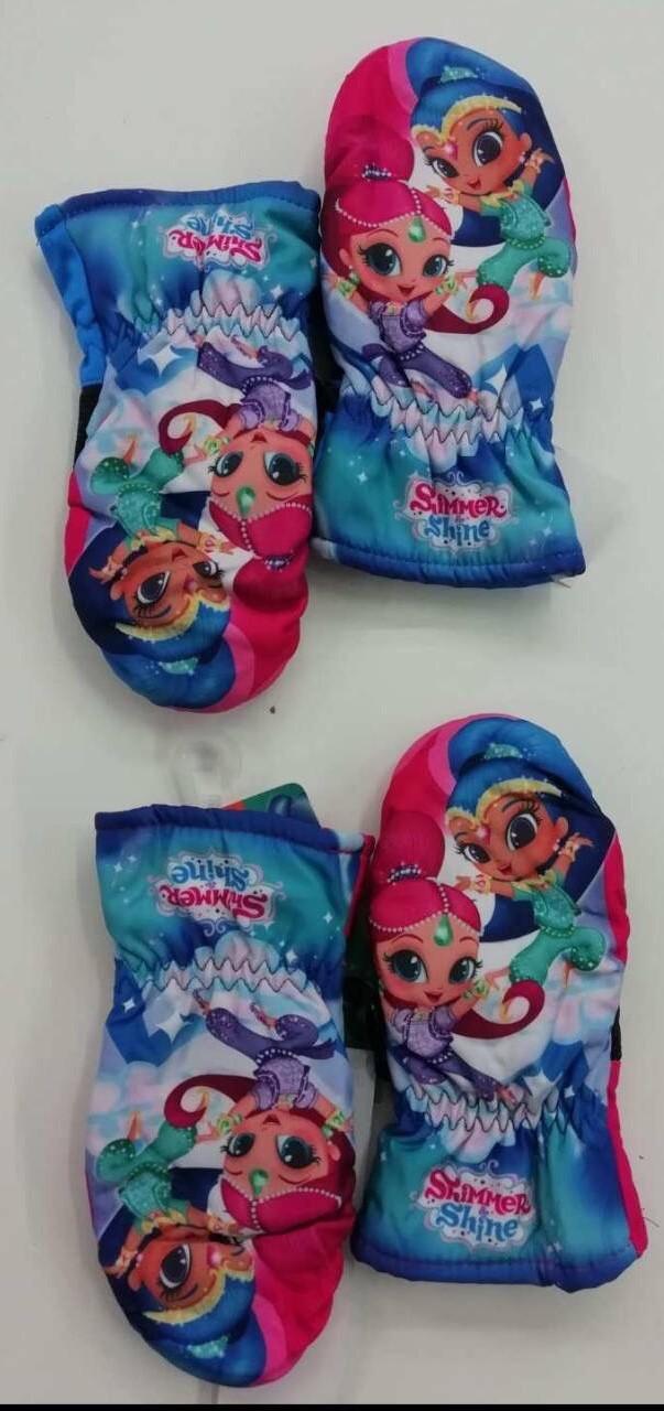Непромокаемые перчатки-варежки для девочек Disney оптом, 3/4-5/6 лет. {есть:3/4 года}