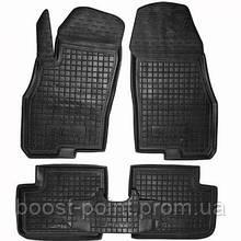 Коврики салона (резиновые, черные) avto-gumm Fiat Punto 3 тип 199 (фиат пунто 3 2005г+)