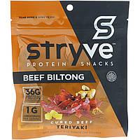Stryve Foods, Protein Snacks Beef Biltong, Teriyaki, 2.25 oz (64 g)