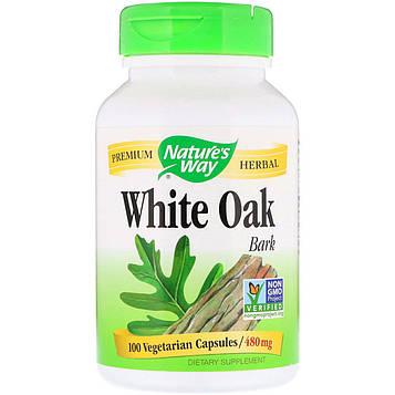 Natures Way, White Oak Bark, 480 mg, 100 Vegetarian Capsules