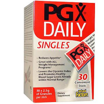 Natural Factors, PGX на каждый день, в индивидуальной упаковке, неароматизированные гранулы, 30 пакетиков, 2,5 г каждый