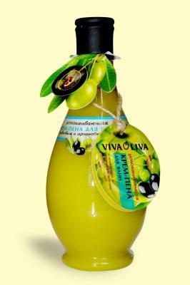 Крем-піна Заспокійлива для ванн з оливковою і аргановою олією 400 мл VivaOliva, фото 2