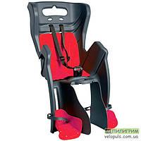 Детское велокресло Bellelli Little Duck Standard на раму под седлом Серо-красный