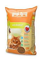 Клуб 4 лапы корм для взрослых кошек с кроликом, 14 кг