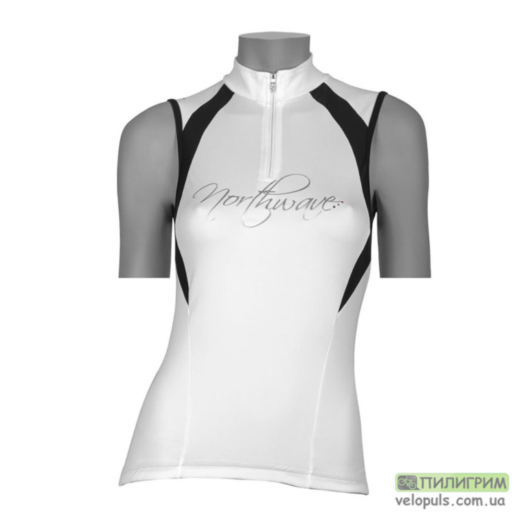 Веломайка - Northwave Devine Jersey White/black sleeves S