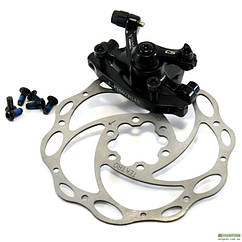 Дисковый тормоз велосипеда - Tektro Novela механический черный + ротор 180 мм, F180PM