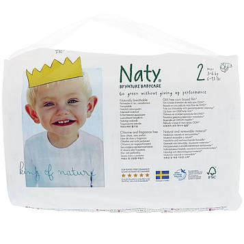 Naty, Подгузники, Размер 2, 6-13 фунтов (3-6 кг), 34 штуки
