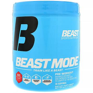Beast Sports Nutrition, Питание, предтренировочный продукт Beast Mode, Beast Punch, 8,47 унц. (240 г)