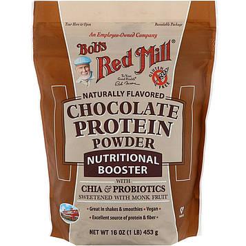 Bobs Red Mill, Шоколадный протеиновый порошок, питательный комплекс с чиа и пробиотиками, 453 г (16 унций)