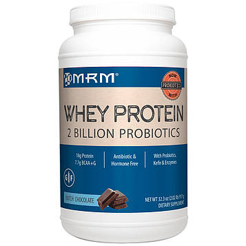 MRM, Натуральный сывороточный белок, 2 млрд пробиотиков, голландский шоколад, 917 гр (32.3 oz)