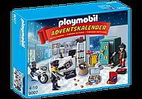 Игровой набор календарь Полицейские и ограбление банка  Плеймобил Playmobil Advent  9007