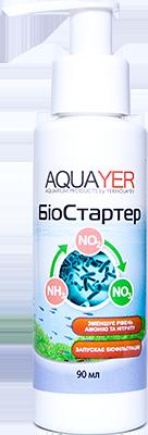 Препарат для подготовки воды Биостартер, для запуска аквариума, для старта AQUAYER