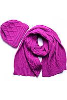 Набор (шапка, шарф) SVTR 1 Малиновый (2-й комплект) КОД: 386133