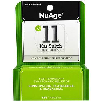 Hylands, NuAge, № 11 Nat Sulph (сульфат натрия), 125 таблеток
