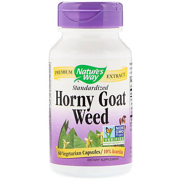 Natures Way, Horny Goat Weed, Standardized, 60 Vegetarian Capsules