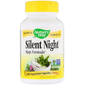 Natures Way, Silent Night Sleep Formula, 440 mg, 100 Vegetarian Capsules