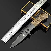 Карманный нож, складной нож Browing 351, материал 8CR13MOV, твердость 58 HRC, нож Браунинг с деревянной ручкой