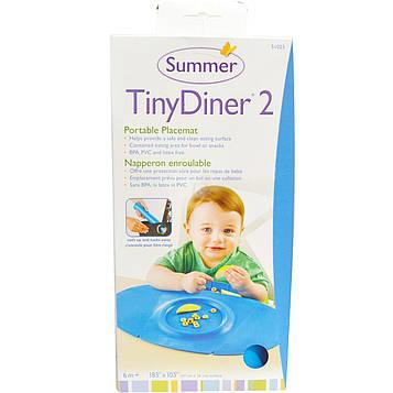 Summer Infant, Tiny Diner 2, портативная подложка под тарелку, розовая, 1 подложка