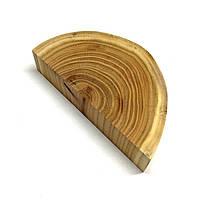 Половина среза (спила) шлифованного без коры 12-14см