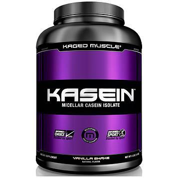 Kaged Muscle, Казеин, мицеллярный, ванильный коктейль, 4 фунта (1,8 кг)