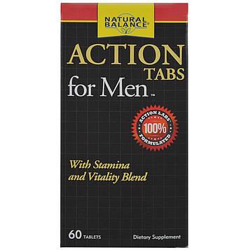 Natural Balance, Action Tabs для мужчин, 60 таблеток
