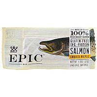 Epic Bar, Кленовый батончик c копченым лососем, 12 батончиков, 37 г (1,3 унции) каждый
