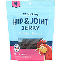 Buckley, Джерки из тазобедренной части, лакомства для взрослых собак, куриный рецепт, 5 унций (141,7 г)