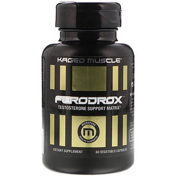 Kaged Muscle, Матрица поддержки тестостерона Ferodrox, 60 вегетарианских капсул