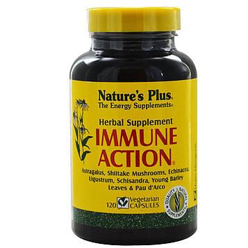 Natures Plus, Иммуностимулирующее средство Immune Action, 120 растительных капсул