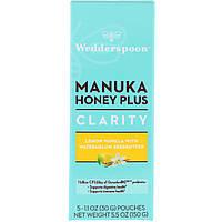 Wedderspoon, Manuka Honey Plus, Clarity, Lemon Vanilla with Watermelon Seedbutter, 5 Pouches, 1.1 oz (30 g) Each