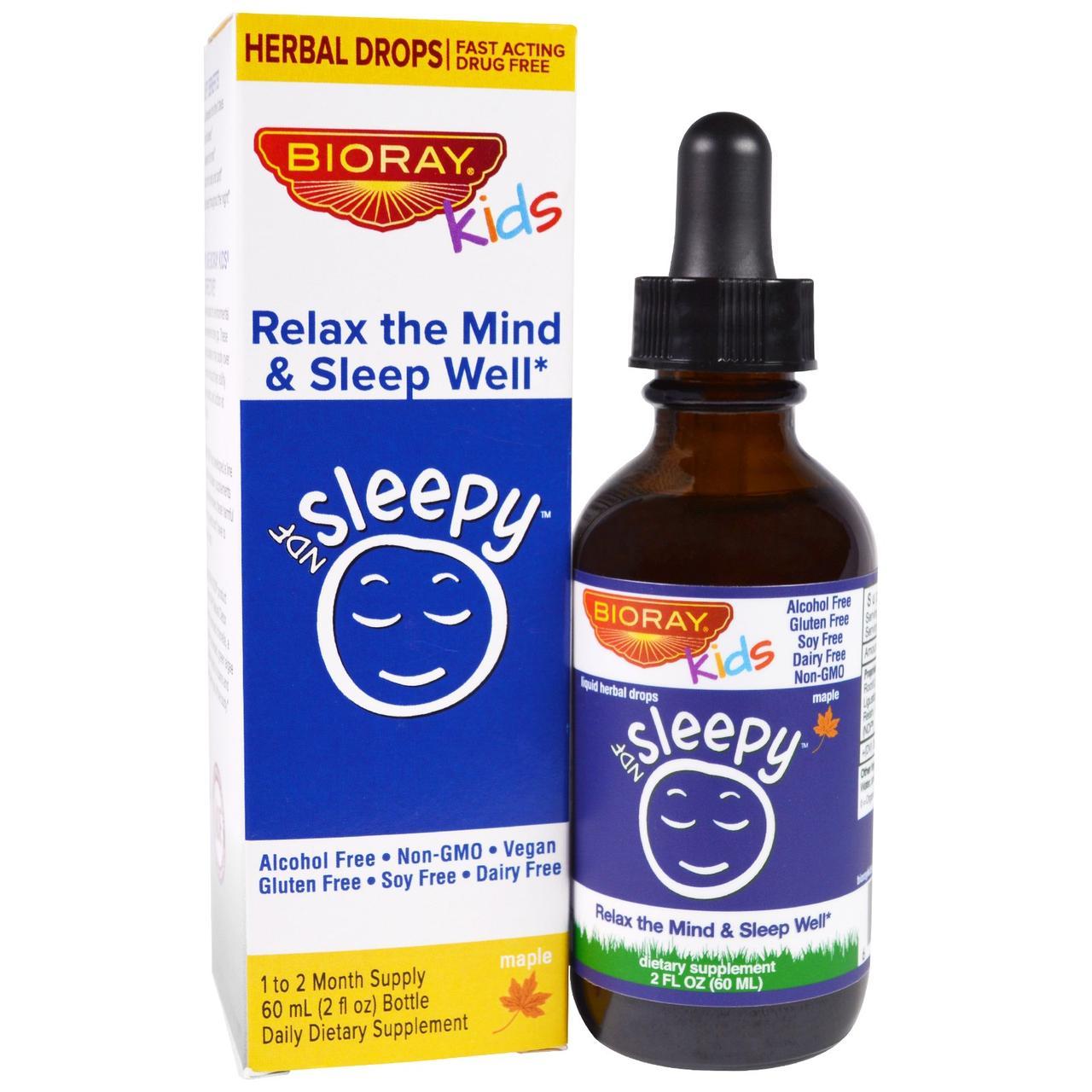 Bioray Inc., NDF Сон, расслабьтесь и спите крепко, для детей, кленовый вкус, 2 жид.унции(60 мл)