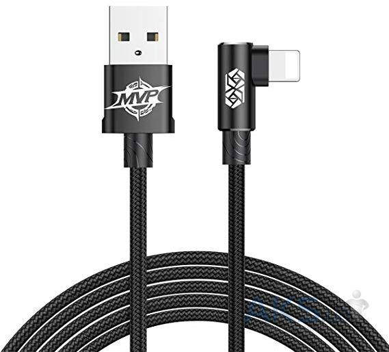 Кабель Baseus Elbow Type USB Cable to Lightning, 2 метра