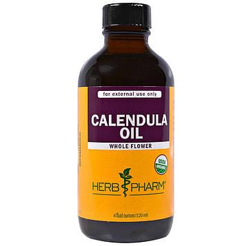 Herb Pharm, Органическое масло календулы, 4 жидких унции (120 мл)