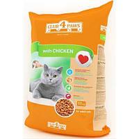 Клуб 4 лапы корм для взрослых кошек с курицей, 14 кг