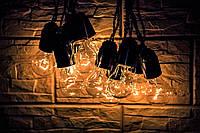 РЕТРО ГИРЛЯНДИ ручной работы, ретро гирлянды из ламп накаливания!!!