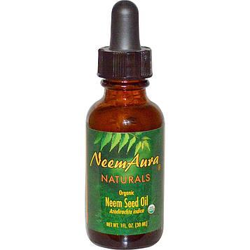 Neemaura Naturals Inc, Органическое, масло из семени азадирахта, 1 жидк. унц. (30 мл)