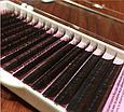Коричневые ресницы Nagaraku 0,1 D 12 (16 линий), фото 2